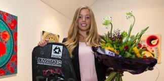 Huldiging wereldkampioene wakeboarden Sanne Meijer Bellingwolde