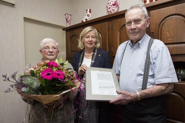 65-jarig huwelijk echtpaar Brouwer Wedde