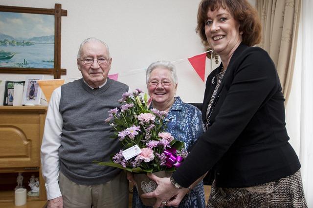 60-jarig huwelijk echtpaar v/d Broek Stadskanaal