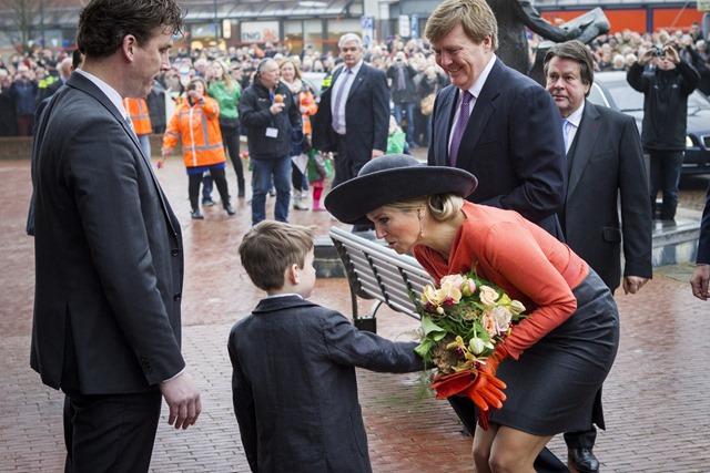 Koning Willem-Alexander en Koningin Maxima bezochten op 17 februari 2015 een bezoek aan Veendam