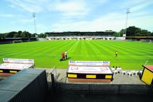 VEENDAM - Voetbal - FC Emmen - FC Groningen, voorbereiding seizoen 2015-2016, 11-07-2015,   stadion aan de Langeleegte