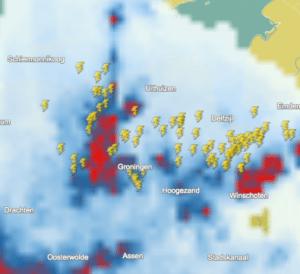 onweer-kaart