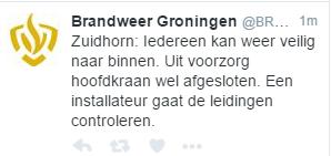 zuidhorn tweet gasleiding